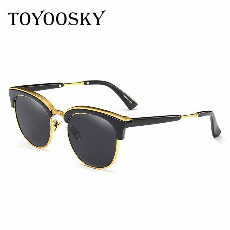 TOYOOSKY Metallrahmen Sonnenbrille Frauen Männer Gespiegelte Brille ...