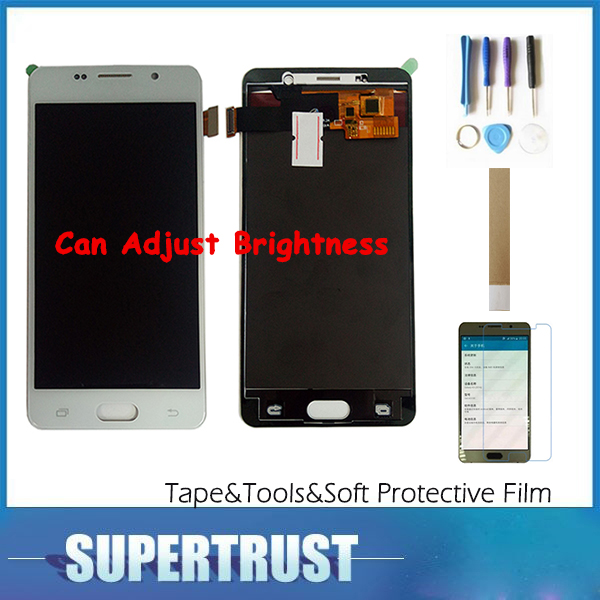 Can Adjust Brightness 5.2For Samsung Galaxy A5 2016 A510 A510M A510F A510Y A5100 LCD Display+Touch Screen with kitCan Adjust Brightness 5.2For Samsung Galaxy A5 2016 A510 A510M A510F A510Y A5100 LCD Display+Touch Screen with kit