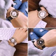 1 шт. Ретро полые часы Для женщин Для мужчин lovers'watch наручные часы час пара подарок Кварцевые наручные часы Круглый Форма horloges mannen