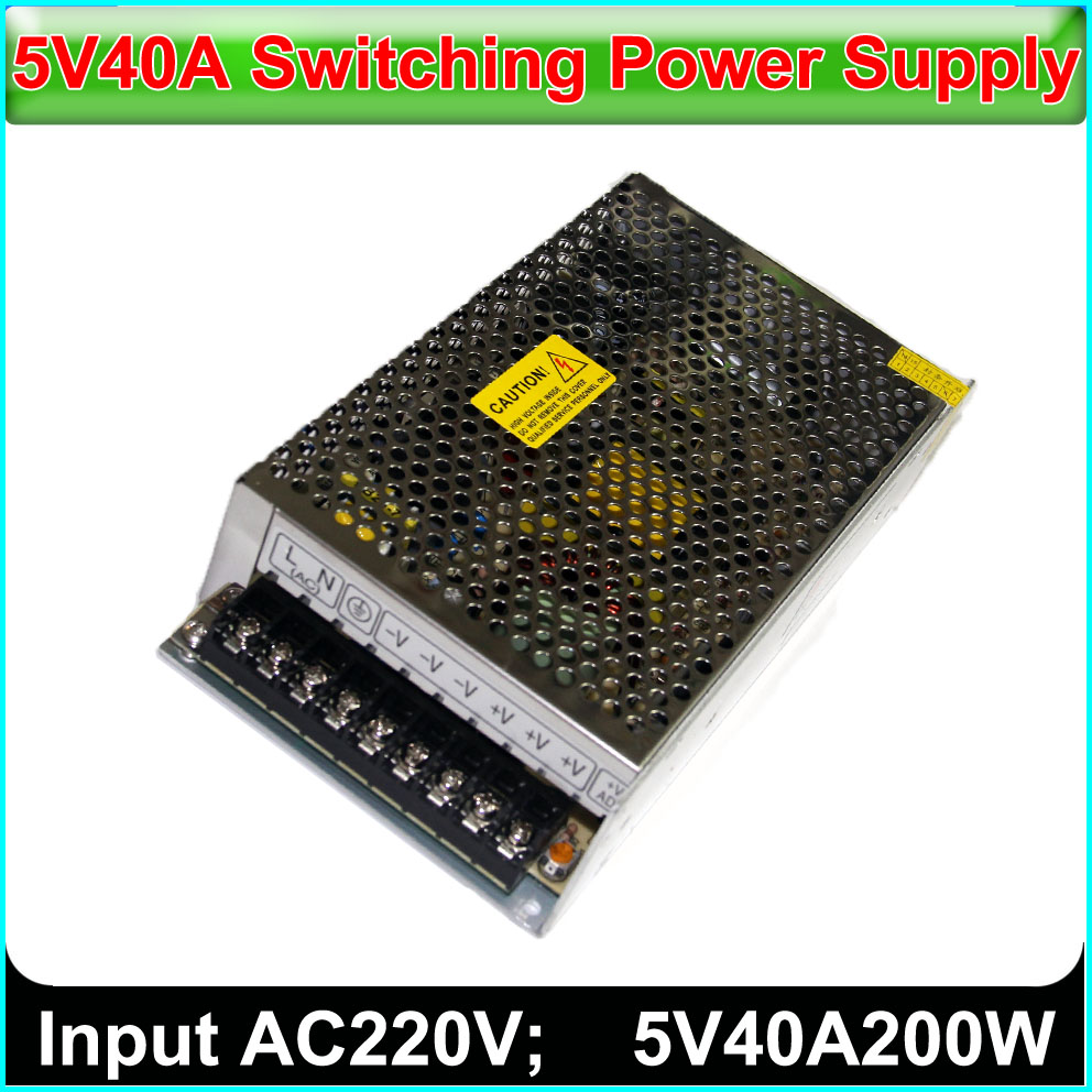 5V40A200W LED Display Switch Power Supply, INPUT 220V~230VAC,Single-color, Full-color Display Switching Power Supply