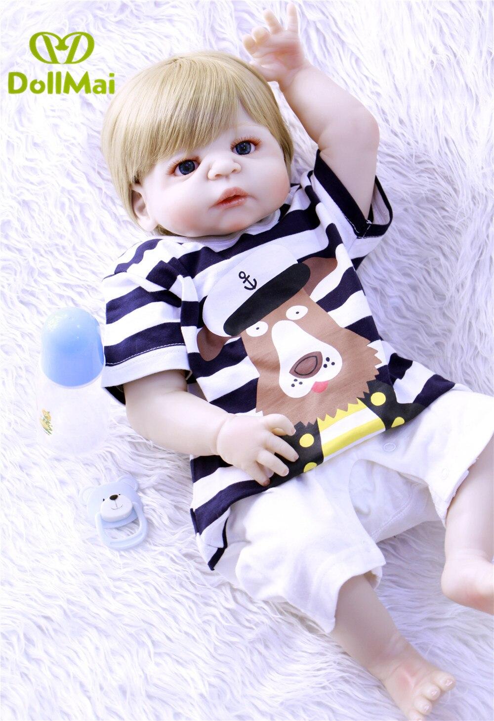 Reborn real baby doll 23 57cm newborn babies boy girl dolls full body silicone dolls reborn
