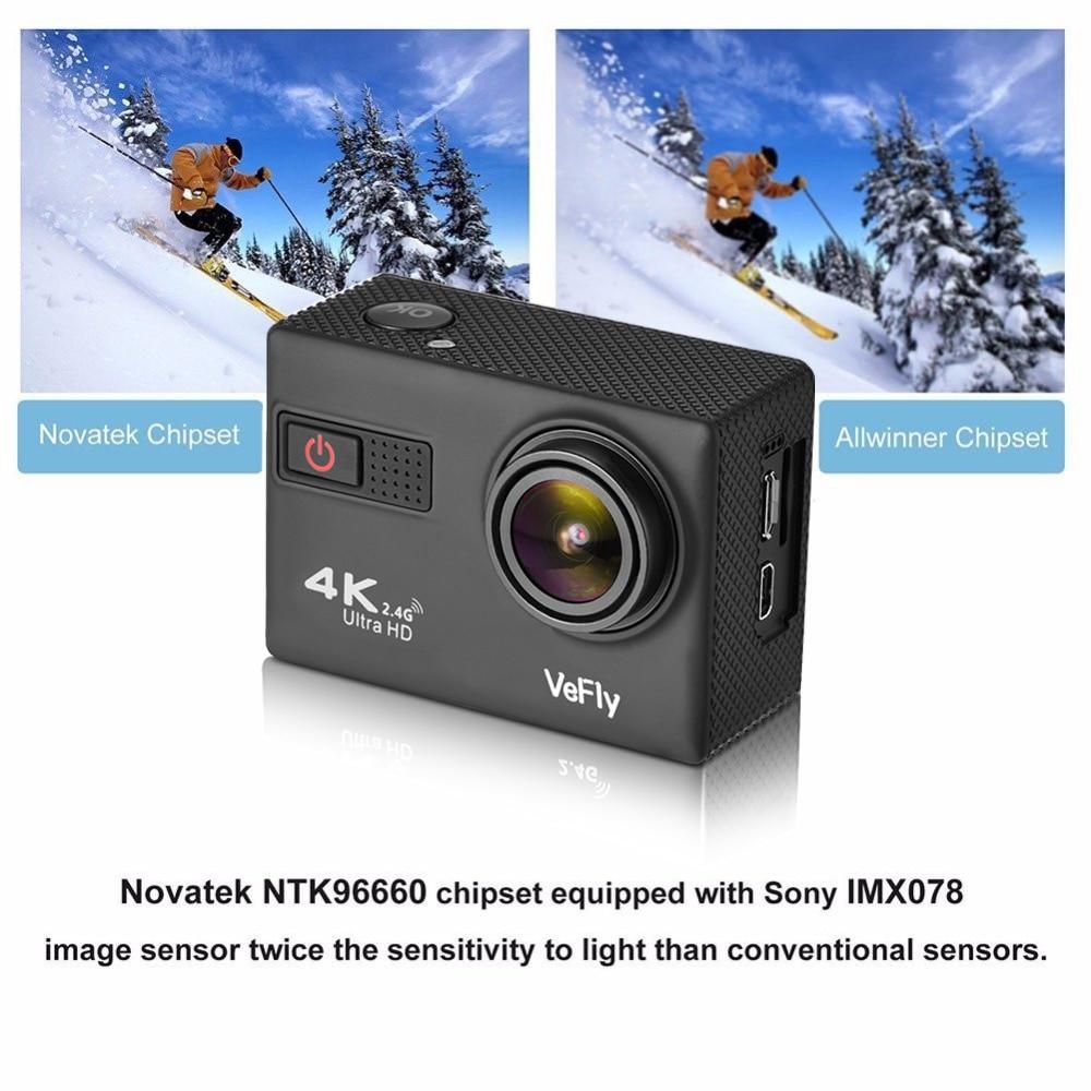 VeFly 4 k Ultra HD sport actie camera, de waterdichte Wifi go pro cam met Anti Shake elektronische GYRO wifi auto video kamera - 2