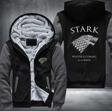 USA Plus EU American Size Game of Thrones Men's Women's Printing Pattern Thicken Fleece Zipper Hoodies Sweatshirts Coat Jacket