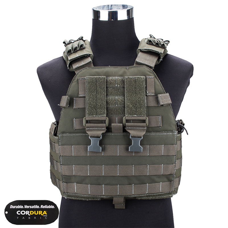 TMC Vest Body Armor EG Assault Plate Carrier Military Airsoft Hunting Molle Combat Gear Camouflage TMC1781