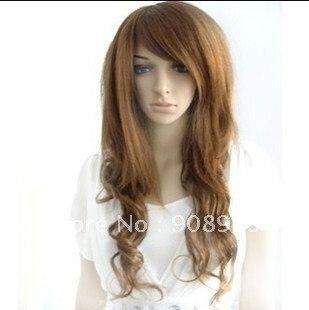 Charming Long Brown Women's Curl Wig/ wigs, @@@    free shipping