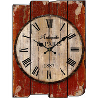 Wood Wall Clock Vintage Quartz Large Wall Watch Roman Numbers European Style Mordern Design Square Wall