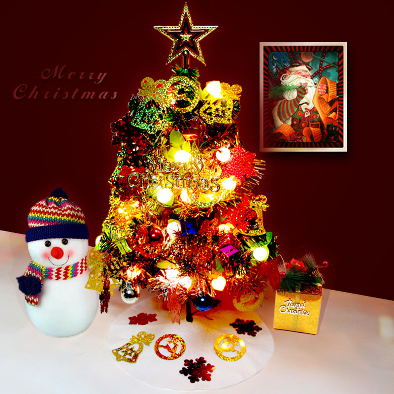 1Set 60cm Artificial Christmas Tree And Decorations Cheap