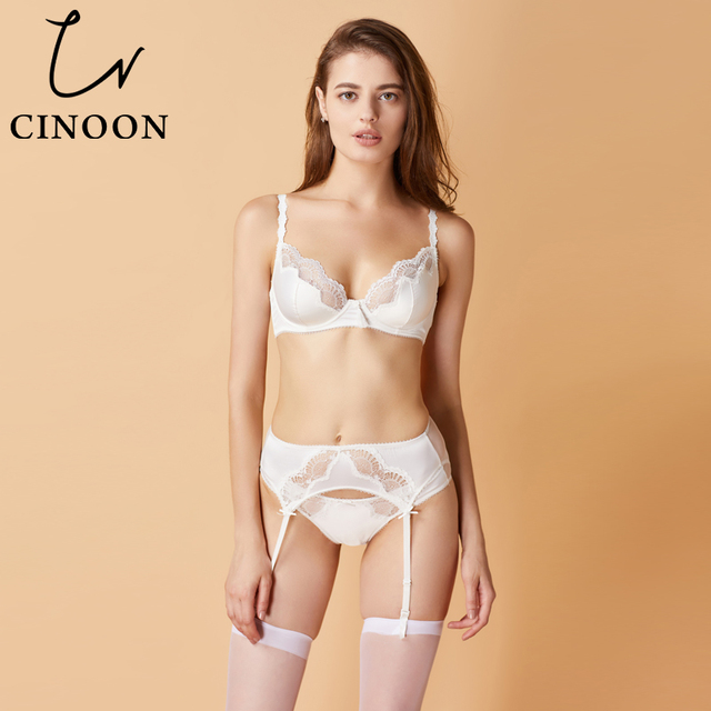 d0e7dc3c539fb CINOON Intimates women sexy plus size bra set embroidery Lace lingerie panty  with Garters Sets women s Underwear