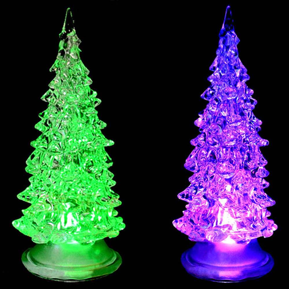 Colorful LED Christmas Lighted Tree Decorations Changing Color ...