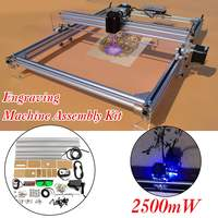 DIY Desktop Mini Laser Cutting Engraving Machine Blue Laser 2500mW 40X50CM DC 12V Printer Carving With