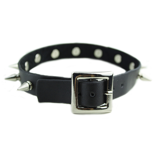 Gothic Men Women Unisex Faux Leather Spike Rivet Choker Punk Necklace Jewelry Faux leather gift necklace jewelry Spike Party