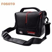 Fosoto Kamera tasche Sollte Taschen Digitale fotografie Foto DSLR Kamera Video Nylon Cave Für Dslr Sony Canon Nikon D700 D300 d200