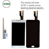 5 5 Inch For MeiZu M3 Note LCD Display Touch Screen Digitizer Glass Sensor Assembly For