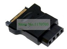 10 pcs SATA 15 pin Male to 4pin Female convert SATA power to IDE drive power adapter