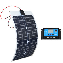 BOGUANG 30w flexible solar panels 18v panel panneau with Controller 10A Solar System Kits for Fishing Boat Cabin Camping