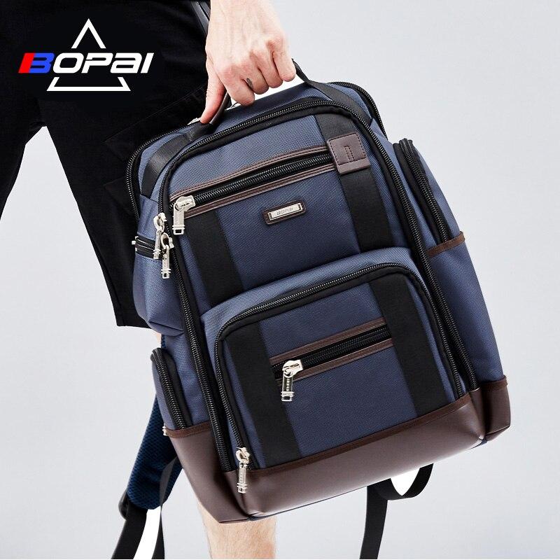 BOPAI Marke Große Kapazität Multi Taschen Reise Rucksack Tasche Schultern Tasche Laptop Rucksack Mode Männer Rucksack Größe 43*35*20 cm-in Rucksäcke aus Gepäck & Taschen bei  Gruppe 1