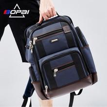 BOPAI marka duża pojemność wiele kieszeni plecak podróżny torba na ramię plecak na laptopa moda męska plecak rozmiar 43*35*20cm