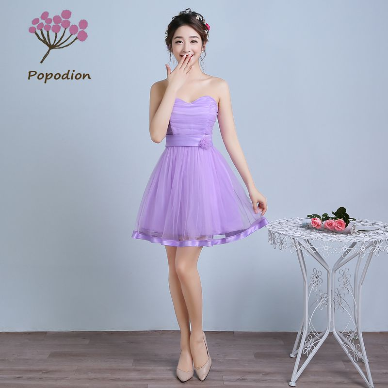 Buy purple strapless bridesmaid dresses for Strapless wedding guest dresses