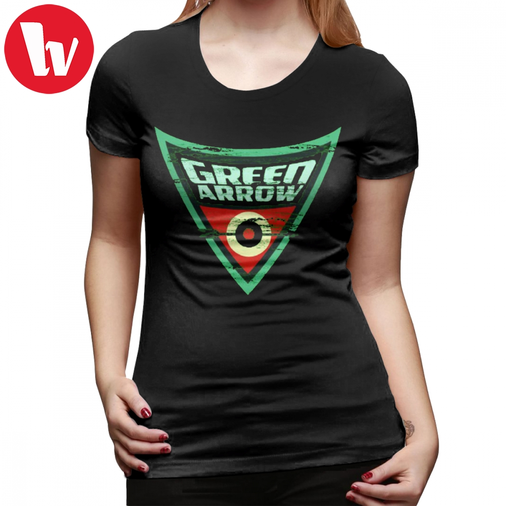 Green Lantern T-Shirt Green Arrow Logo T Shirt Large size Cotton Women tshirt Gray Short Sleeve Street Style Ladies Tee Shirt