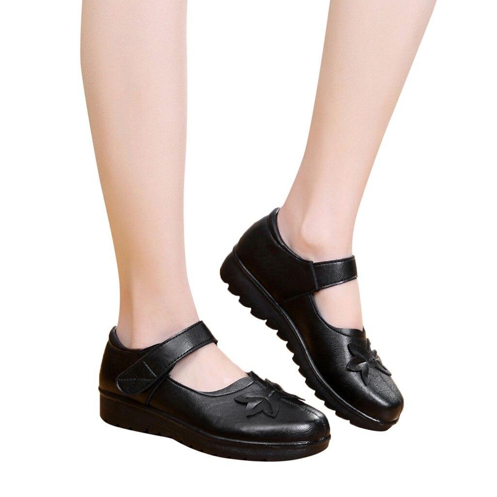 582d6867d Slip Sandalias De on Fundo Mocassins marrom 2019 Couro G30 Sapatos  Youyedian Meia Plano Único Preto Mujer Macio wYPxCq0