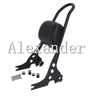Motorcycle Luggage Rack Sissy Bar Rear Passenger Backrest Cushion Pad For Harley Sportster 883 1200 XLH
