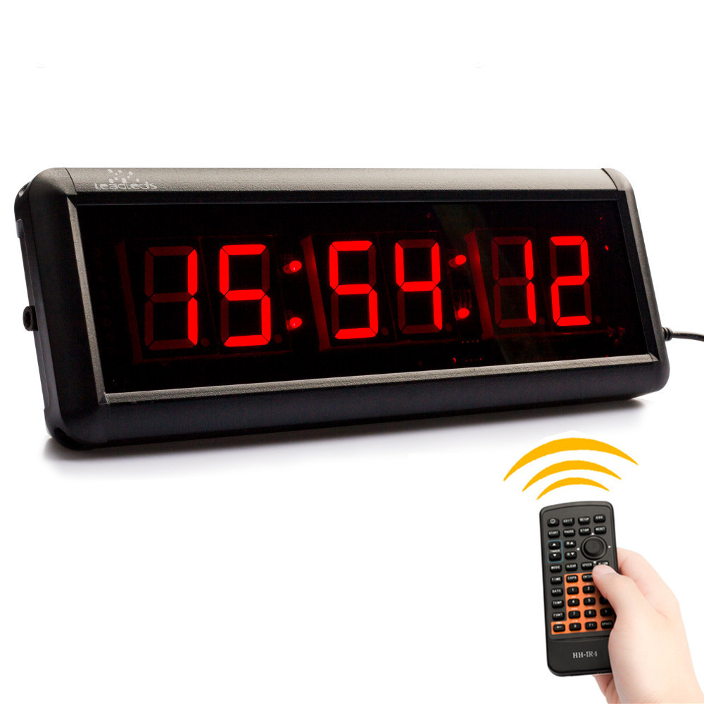 1.5-in multifunction 6 Digital LED countdown Clock Display HH:MM:SS Stopwatch Timer For Gym Training Basketball table tennis mat1.5-in multifunction 6 Digital LED countdown Clock Display HH:MM:SS Stopwatch Timer For Gym Training Basketball table tennis mat