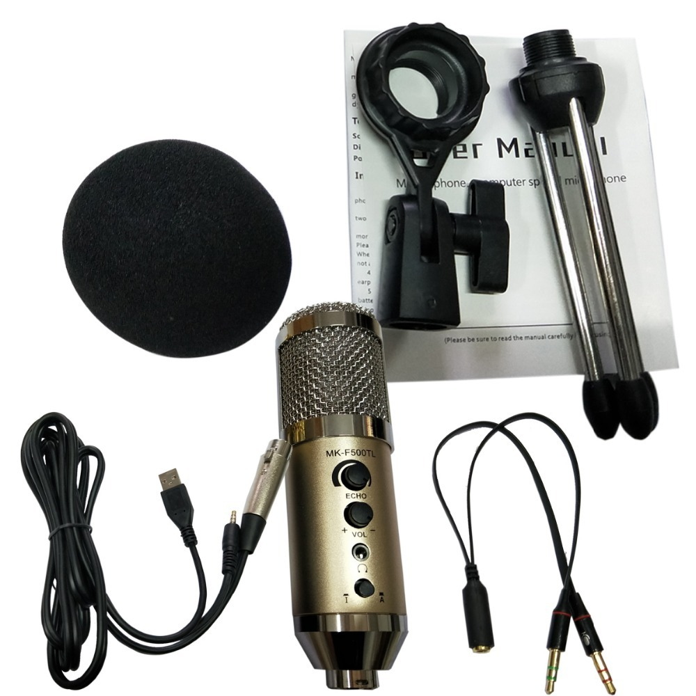 MK-F500TL Studio Microphone USB Condenser Sound Recording Add Stand free Driver For Mobile Phone Computer Update MK-F200TL image