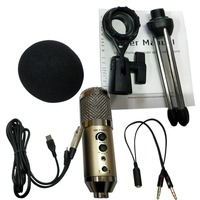MK F500TL Studio Microphone USB Condenser Sound Recording Add Stand free Driver For Mobile Phone Computer Update MK F200TL