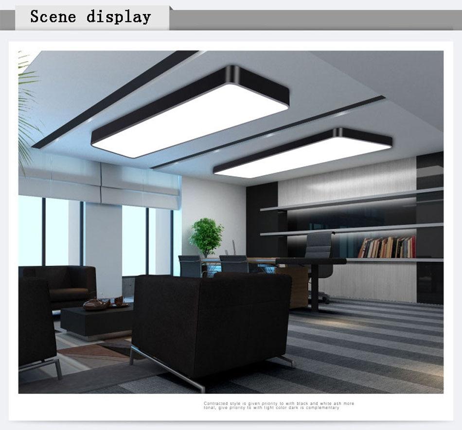 HTB19nInr5CYBuNkSnaVq6AMsVXab LED Modern Ceiling Light Lamp dimmable Surface Mount Panel Rectangle Lighting Fixture Bedroom Living Room office light 110V 220V