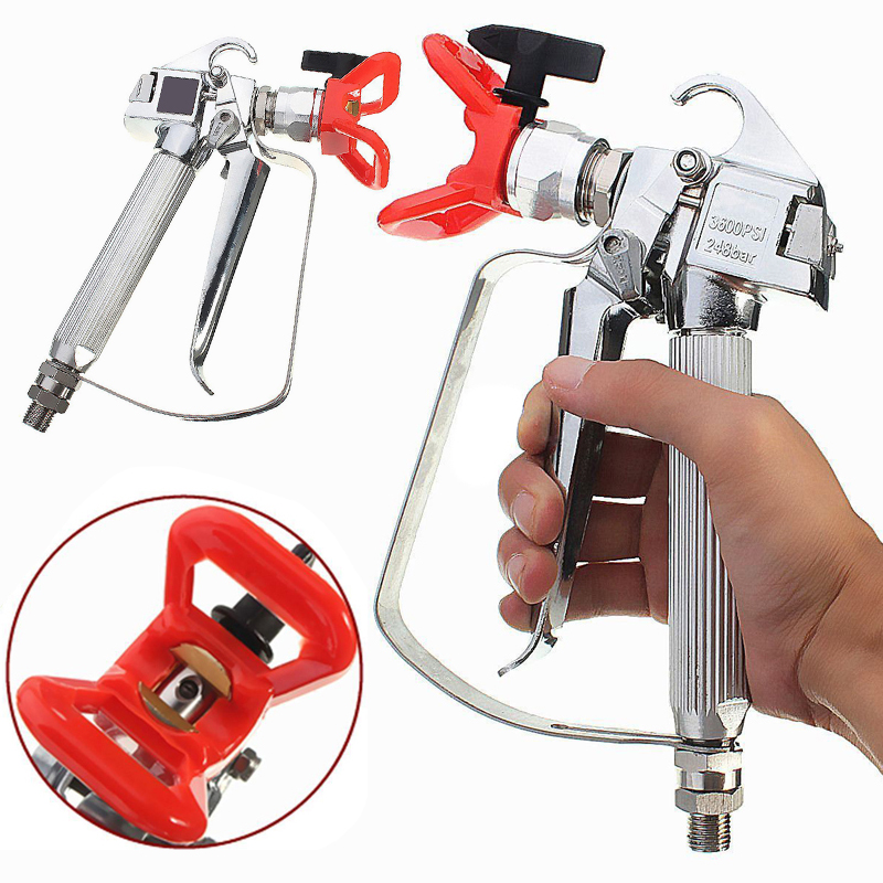 Airless Paint Spray Gun Spray Tool with Tip&Guard Spray Nozzle for Graco Titan Wagner Pumps Airless Spray Gun Tools Mayitr high quality 3600 psi airless spray gun for graco titan wagner paint sprayers with spray tip best price