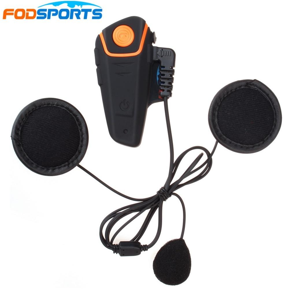 1 pc Motorcycle Waterproof Bluetooth Helmet Intercom BT Comunication Headset BT S2 Motorbike Interphone with FM