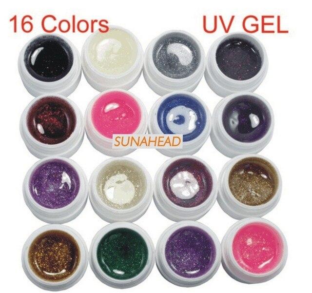 BEMLP 16 Color Del Polvo Del Brillo UV Gel Constructor Set Nail Art Extremidades Falsas Francesas Herramientas Salon