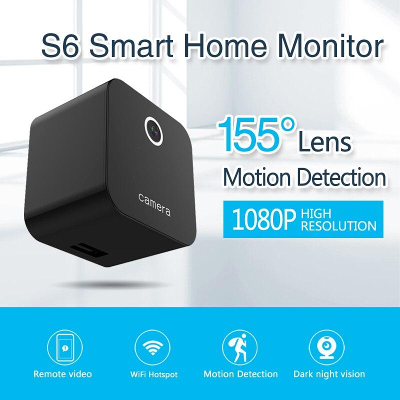 Sanescargot mini caméra IP S6 Wifi Mini caméra HD 1080 P Vision nocturne vidéo caméscope Audio petit enregistreur PK sq11 sq12 sq13