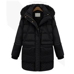 Image 3 - Mulheres midi longo para baixo casaco tamanho grande para baixo jaqueta senhora pato branco para baixo jaqueta com capuz casacos feminino grosso inverno jaqueta outerwear 462