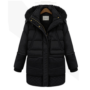 Image 3 - Women Midi Long Down Coat Big Size Down Jacket Lady White Duck Down Jacket Hooded Coats Female Thick Winter Jacket Outerwear 462