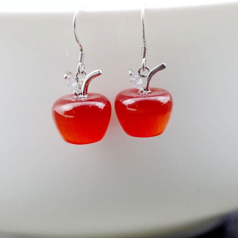 YL007 red earrings
