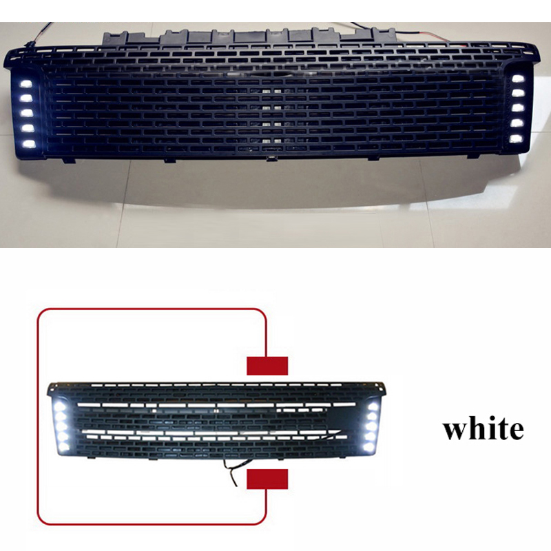 ranger grill LED for ford for Ranger Racing grill grilleABS black front grill trim pickup 2012-2015 Гриль