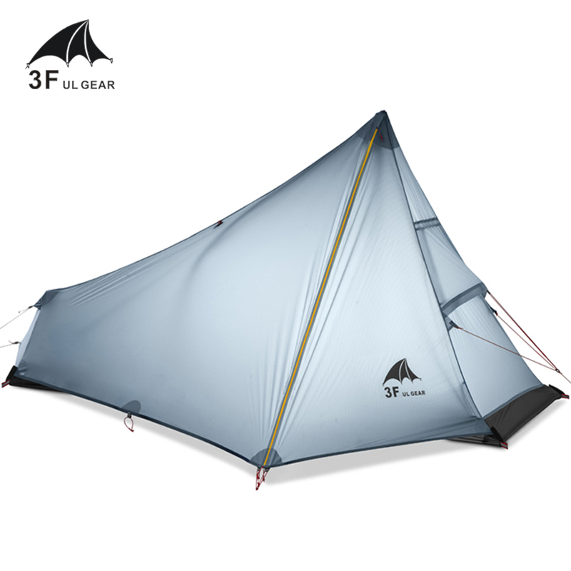 NEW 3F UL GEAR 740g Oudoor Ultralight Camping Tent 3 Season 1 Single Person Professional 15D Nylon Silicon Coating Rodless Tent 3f ul gear 2 person 4 season ultralight professional silicone coated anti rain anti wind camping tent 15d
