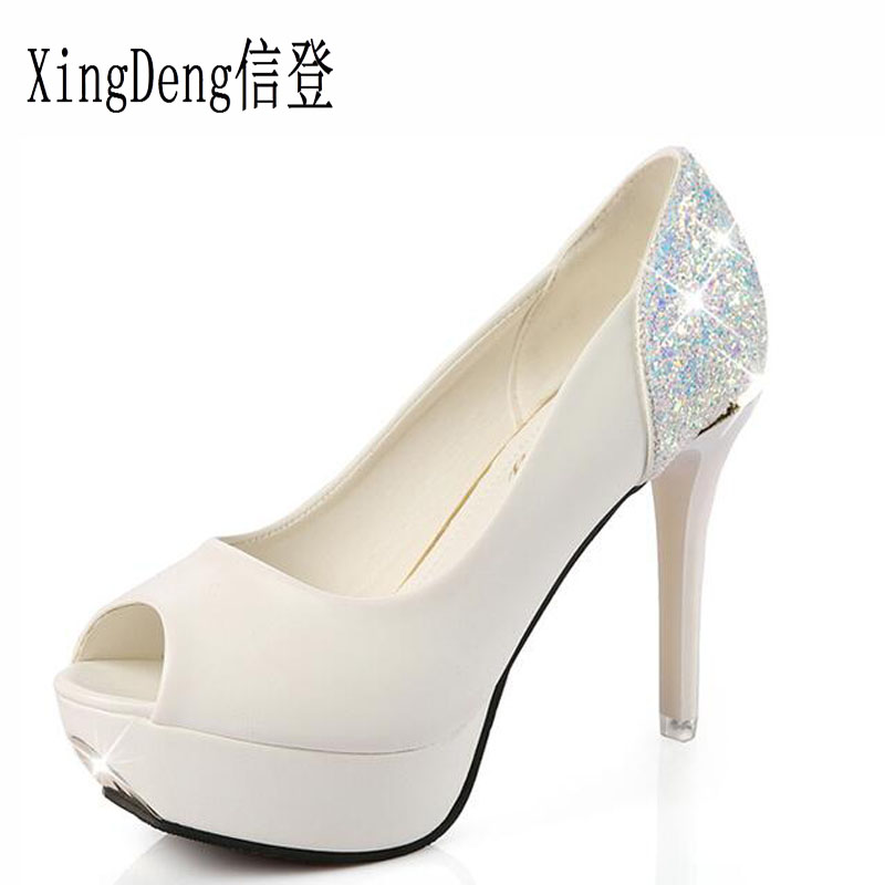 Xingdeng European Women High Heels Pumps Shoes Las White Wedding Bridal Y Office Stiletto Size 34 39 In S From On