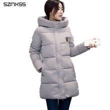 2017 Autumn Winter Jacket For Women Park Hooded Coat Casual Warm Long Sleeve Ladies Basic Coat Jaqueta Feminina Cotton Clothes