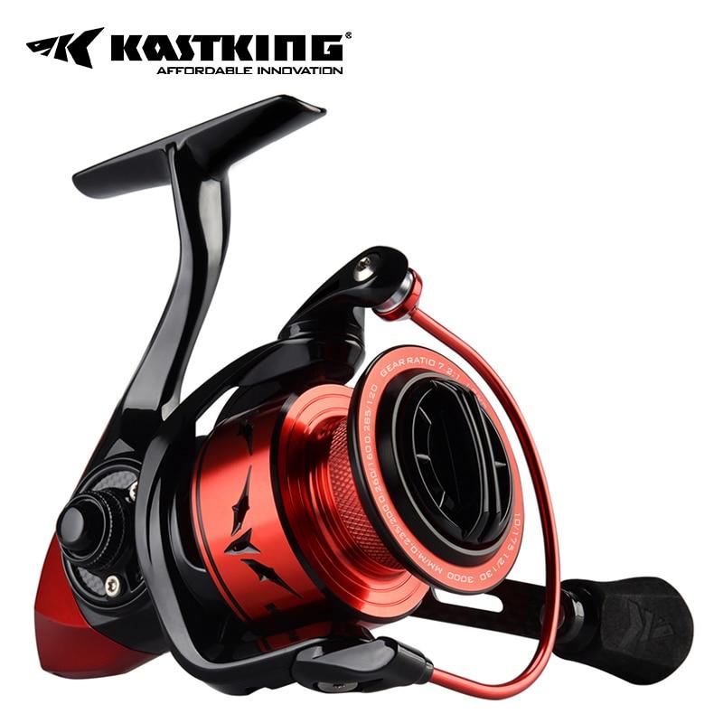 KastKing скорость демон спиннинговая катушка, пылающий быстро 7,2: 1 Передаточное число, алюминиевая рама, карбоновый ротор и ручка, оплетка готов...