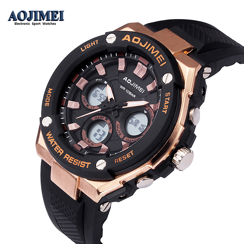Military Digital-Watch Men's G Style Sports Shock Army Watch LED Rubber Electronic Wrist Watches For Men Clock