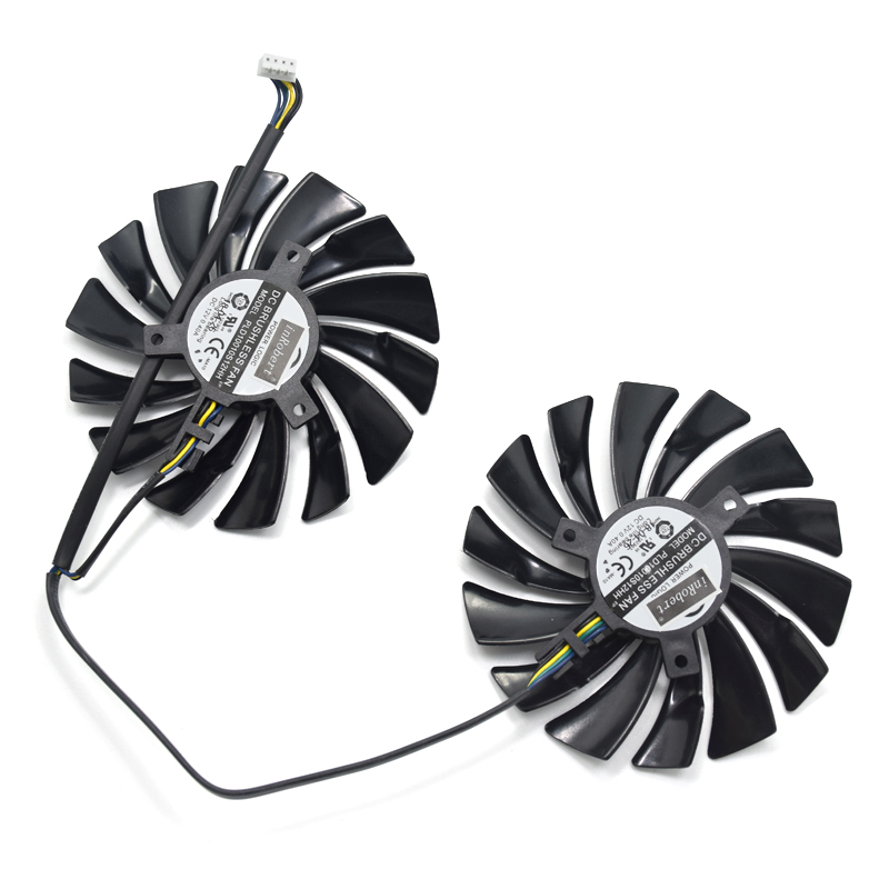 NEW 2pcs/lot 95mm 4PIN DC12V PLD10010S12HH Cooler fan Replace For MSI GTX760 frozr twin 2 gb GPU R9 270 R280 Gaming MSI 1080 Ti image