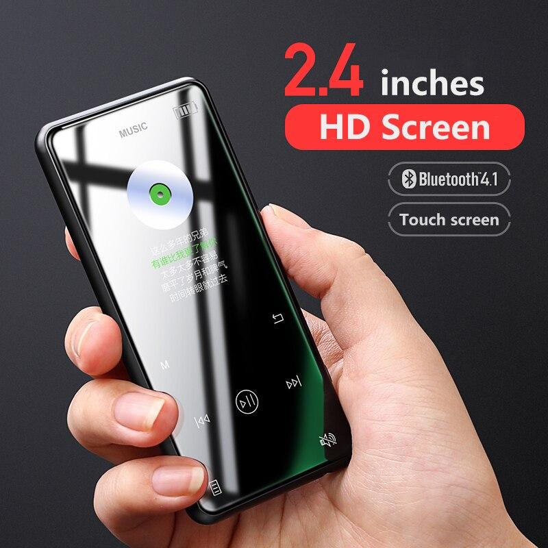 Yescool X8 métal écran tactile MP3 Bluetooth lecteur de musique pour sports jogging prend en charge l'enregistreur vocal lecteur E-book visionneuse d'images