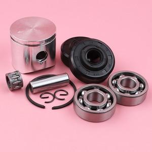 Image 3 - Anillo de perno de pistón de 38mm, Kit de sello de aceite de rodamiento de agujas para piezas de motosierra Husqvarna 136 137
