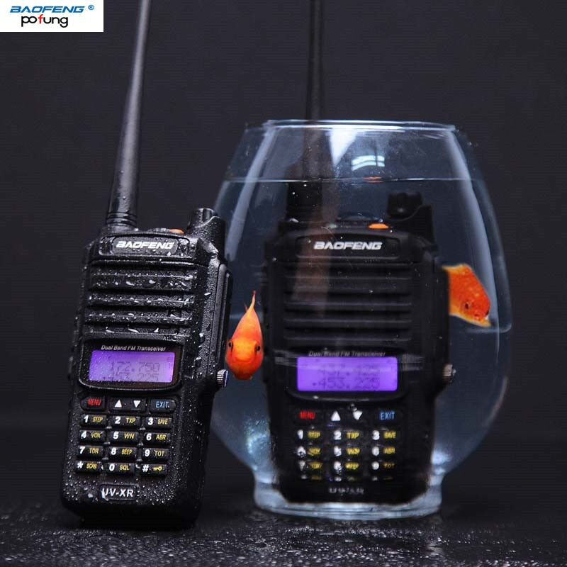 2018 Baofeng UV-XR IP67 Waterproof Walkie Talkie 10W Powerful Two Way Radio 10KM Long range for traveling hiking