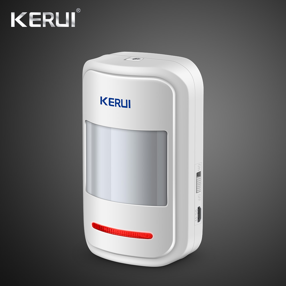 Kerui 5V USB Recarregável 433MHz Sem Fio PIR Sensor Detector de Movimento Para GSM PSTN Discagem Automática do Sistema de Alarme de Segurança kit de alarme