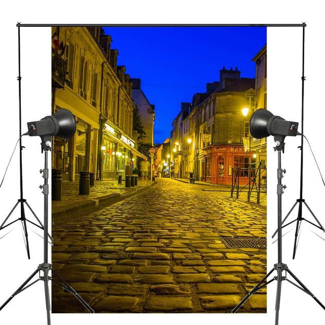 5x7ft Golden Paris Street Photography Background Backdrop Photo Studio Props Wall Photography Backdrop