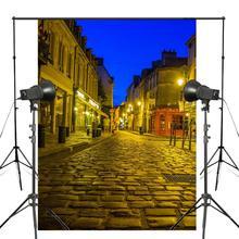 5x7ft doré Paris rue photographie arrière plan Photo Studio accessoires mur photographie toile de fond