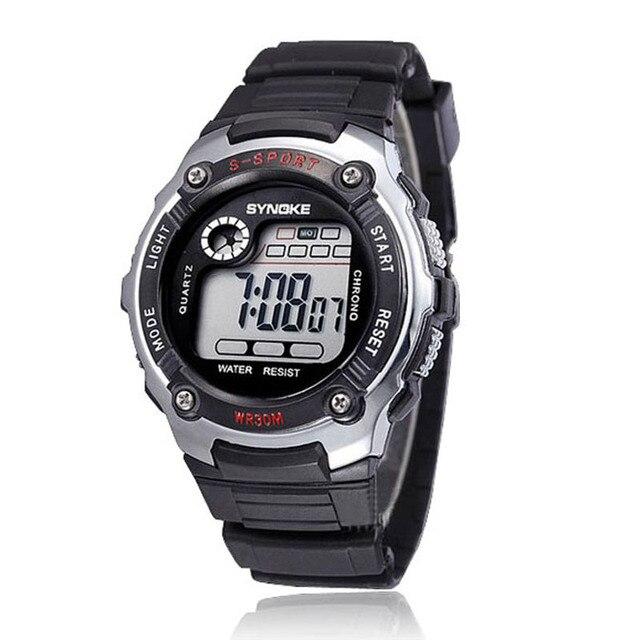 SYNOKE Kid watches Boy's Waterproof Digital LED Quartz Alarm Date Sports Wrist W